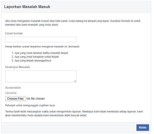 7 Cara Membuka Facebook Yang Lupa Kata Sandi Email No Hp