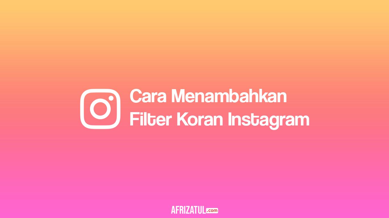 Filter Koran Instagram
