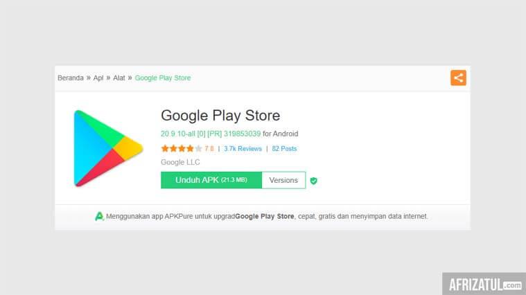 cara download play store di laptop 2020
