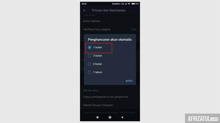 cara hapus akun telegram di iphone