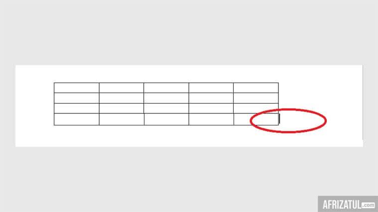 cara membuat tabel di word 2007