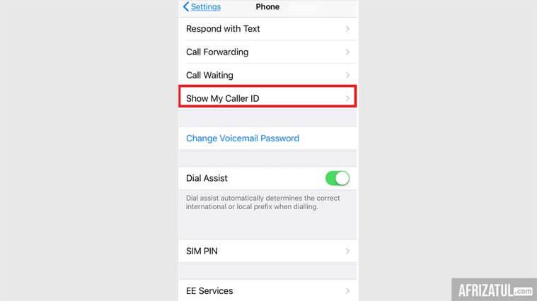 cara menelpon dengan nomor pribadi di iphone