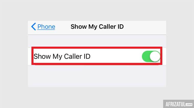cara menelpon dengan nomor pribadi iphone