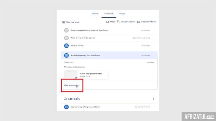 cara menggunakan google classroom untuk siswa di hp