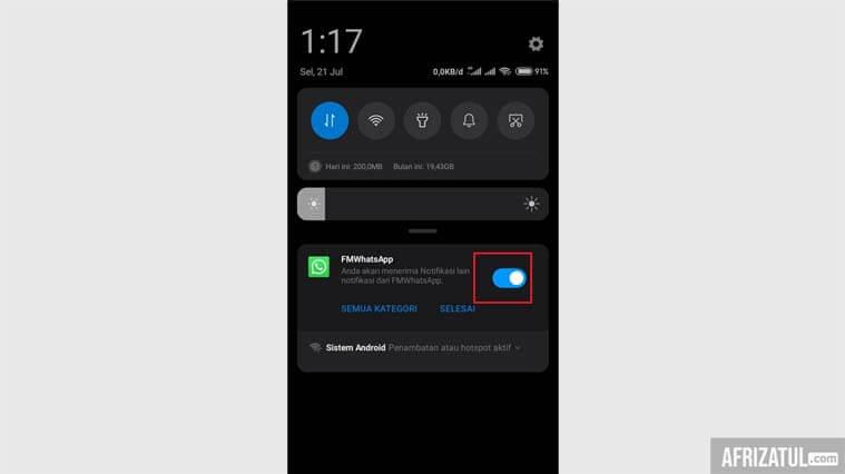 cara menghilangkan notifikasi whatsapp web di iphone