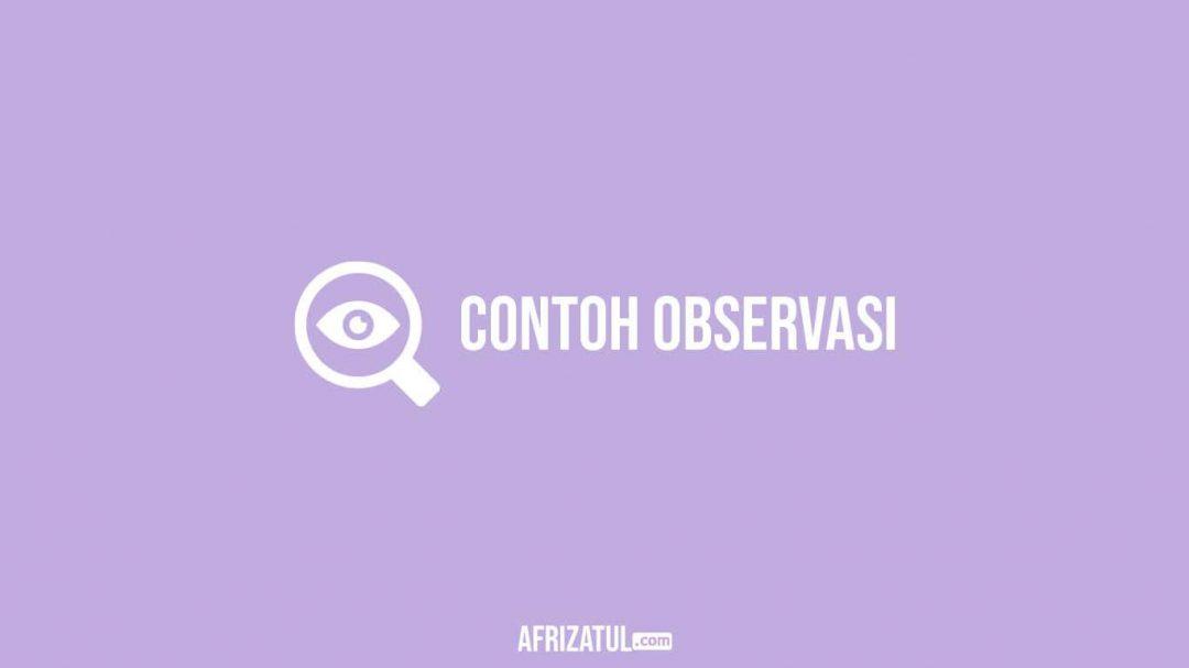 Contoh Observasi