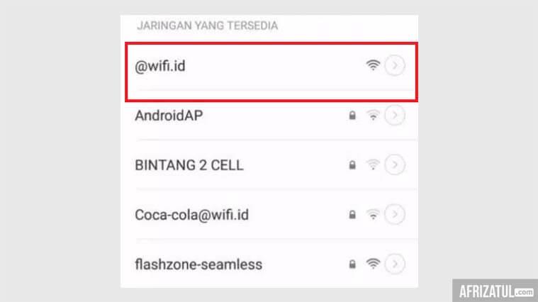 cara logout jaringan wifi id
