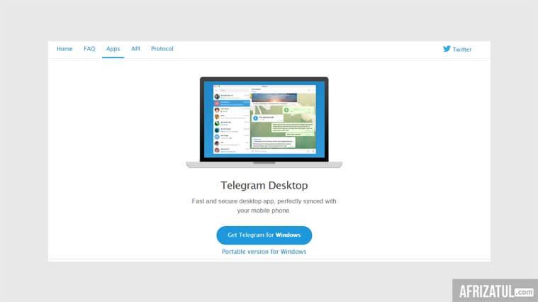 cara download telegram di komputer