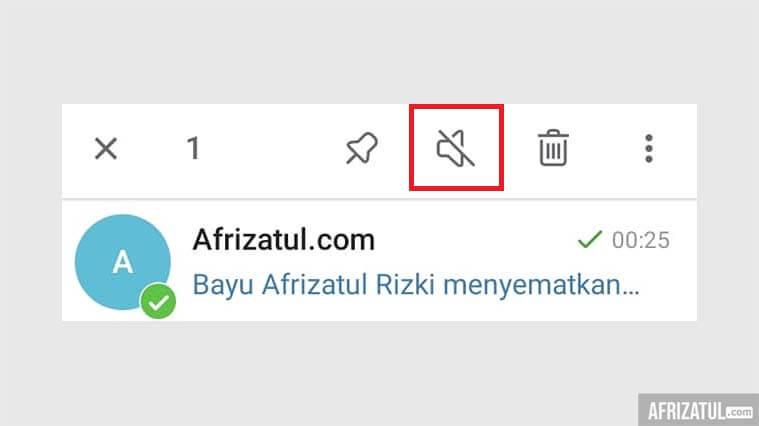 cara menyematkan chat di telegram