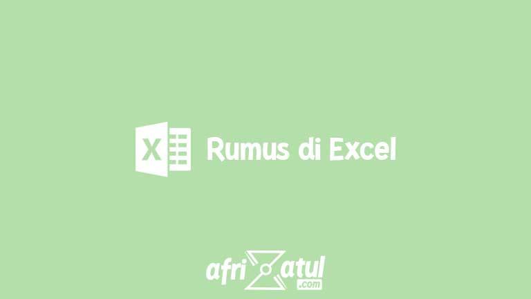 Rumus di Excel